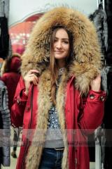 Women's the park with fur