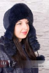 Женская меховая шапка №424