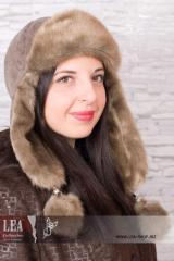 Зимняя меховая женская шапка №410