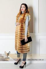 Long vest from a fox
