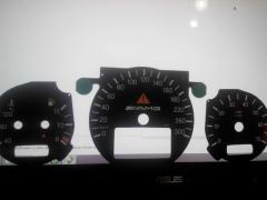 Шкалы приборов Mersedes w210 прозрачные