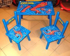 Столик M 0294 (5шт) Человек-паук, деревянный , 2