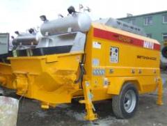 Deliveries of construction equipment. Concrete