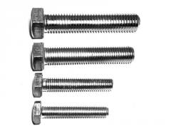 M8x70 bolt. Hardware products in assortment.