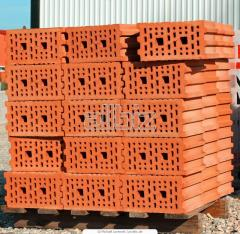 Brick for construction hollow