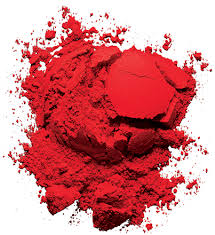 The pigment is cardinal red