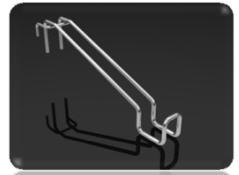 Крючок двойной Z-образный для сетки КДZ-100,