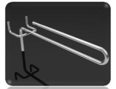 Крючок одинарный U-образный для перфорации
