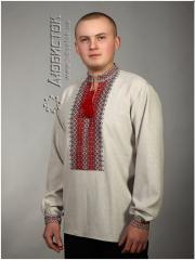 Мужская рубашка-вышиванка ЧС 2-25L ТМ Любисток