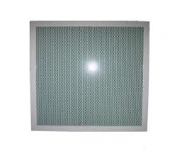 Lattice ceiling with the punched PB 3030-1 panel