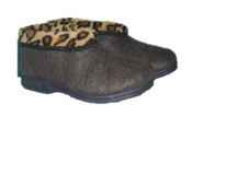 P1 carpet slippers with fur