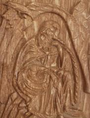 Gifts and souvenirs of an icon carved of a tree