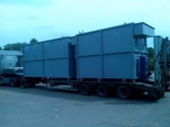 Equipment of local treatment facilities for