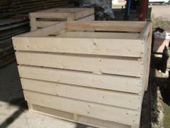 Контейнер для транспортировки и хранения плодоовощной продукции, Производство деревянной тары