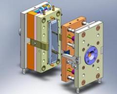 Compression molds for molding under pressure