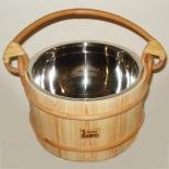 Bucket 4 l, wooden with metal insert, for bath