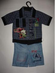 Костюм для мальчика, рубашка и джинсы
