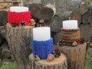 Свечи в деревенском стиле