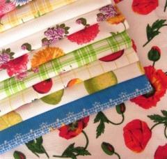 Вафельные полотенца,цветные.