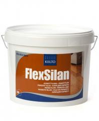 Elastic glue for a parquet of Kiilto Flex Silan on