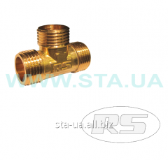 NNN tee a knee of 15 mm - a brass fitting of