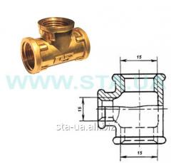 Mm VVV 15 tees straight lines brass - STA