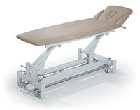 Massage and procedural table with the sections