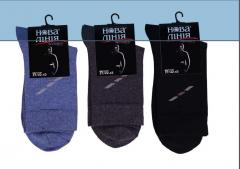 Demi-season men's socks from cotton from the
