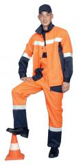 Road builder suit with semi-overalls (a mixed