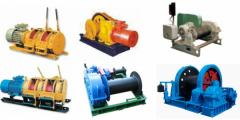 Winches are sinking, mine, auxiliary
