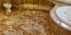 The tile is marble facing