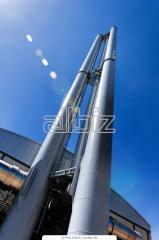 Трубы из нержавеющей стали для дымохода, Монтаж