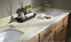 Table-tops under a wash basin