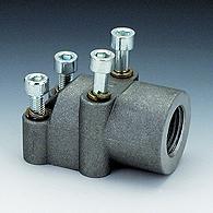 Фланцы (соединение) для насоса (4 отверстия) WVA, алюминий, угол 90°  Под рукава, трубы гидравлические
