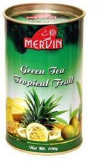 Чай зеленый с фруктами Mervin Тропические фрукты