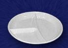 Тарелка одноразовая 205 мм 3-секц. Тарелки