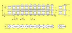 Chains roller dlinnozvenny for conveyors and