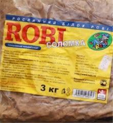 Vegetable substitute of ROBI meat straws