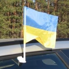 Флажок Украины с автофлагштоком для автомобиля