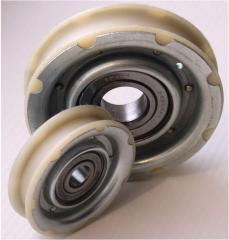 Rollers for elevators. Parts for elevators from