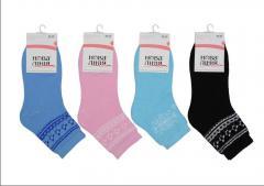 The women's warmed terry socks wholesale.