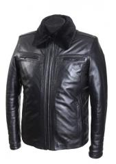 Man's leather jacket on lightning Model No.