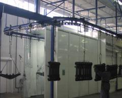 Suspended transport system conveyor