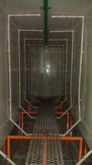 Sink, jet chamber of preparation of a surface of