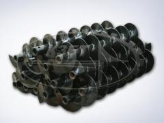 Шнеки буровые d=230 - 650 мм