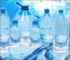 Mineral water, export water, table water, soft