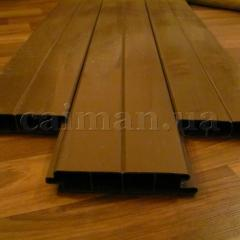 The board is plastic polymeric, the PVC deking, a