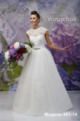 Wedding dress, model 401 (with overskirt) SALE