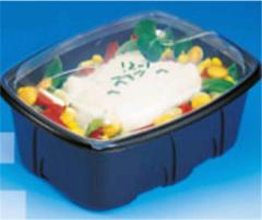 Containers for hot salads, the first and Archipack