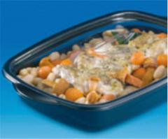 The containers Marmipack black for microwave ovens